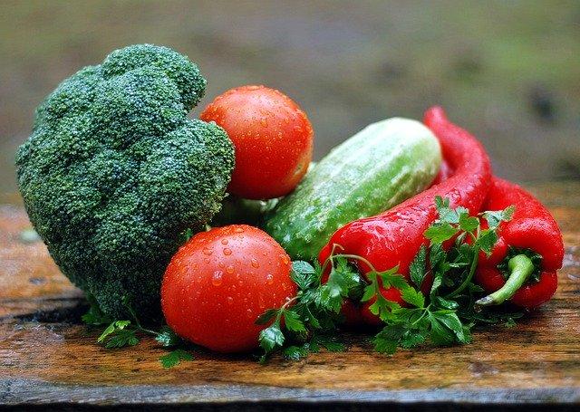 pěstování, zahrádka, rajče, brokolice